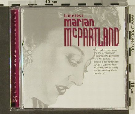 McPartland,Marian: Timeless, Savoy Jazz(), US, 2002 - CD - 82417 - 10,00 Euro