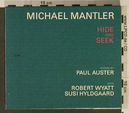 Mantler,Michael: Hide And Seek, ECM 1738(549 612-2), D, 2001 - CD - 82427 - 10,00 Euro