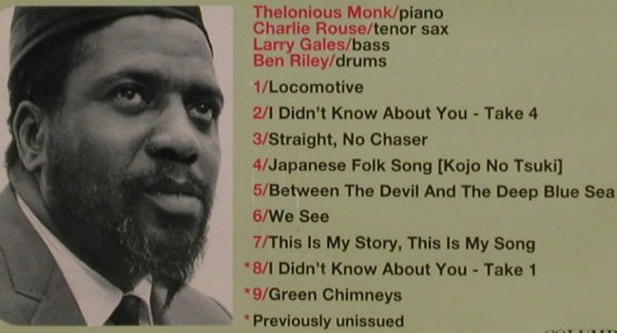 Monk,Thelonious: Straight No Chaiser '79(Soundtr.), Columb.(), A, 1996 - CD - 82437 - 11,50 Euro