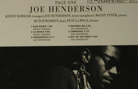 Henderson,John: Page One '63, Blue Note(), EU, 1999 - CD - 97703 - 7,50 Euro