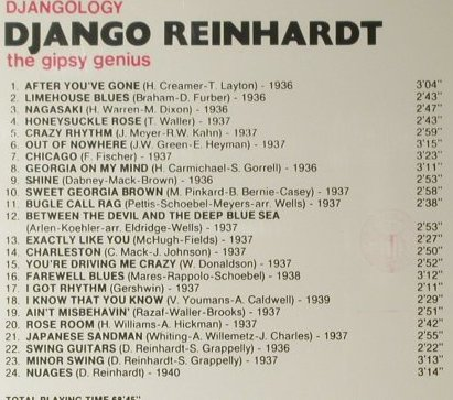 Reinhardt,Django: Djangology - The Gypsy Genius, Giants o.J(), I, 1990 - CD - 98050 - 5,00 Euro