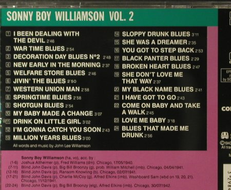 Williamson,Sonny Boy: Vol.2 1940/1942, Blues Collection(158102), UK, 2000 - CD - 95970 - 9,00 Euro