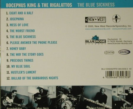 Bocephus King: The Blues Sickness, Blue Rose(), D, 00 - CD - 97947 - 7,50 Euro