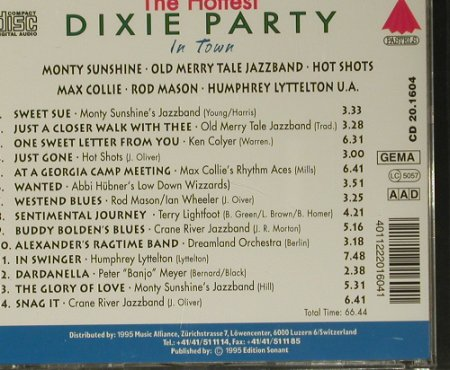 V.A.Dixie Party - the Hottest: Sentimental Journey, Pastels(20.1604), EEC, 1995 - CD - 99052 - 3,00 Euro