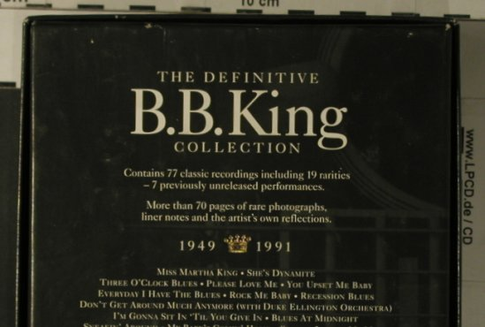 King,B.B.: King Of The Blues,1949-1991,Box Set, MCA D4(10677), US,  - 4CD - 99237 - 20,00 Euro