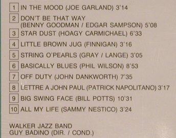 Walker Jazz Band: Big Band History Vol.2, Pierre Verany(PV785093), F, 1985 - CD - 99728 - 7,50 Euro