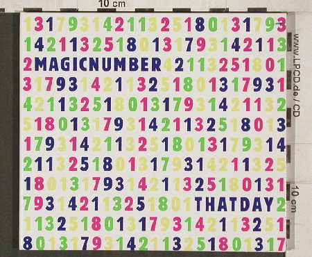 Magicnumber: That Day, Digi, Stereo Deluxe(sd120), , 2004 - CD - 81305 - 7,50 Euro