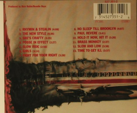 Beastie Boys: Licensed To Ill, Def Jam(527 351-2), EU, 1986 - CD - 82675 - 6,00 Euro
