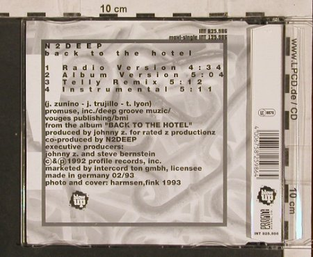 N2 Deep: Back to the Hotel*3, Blow Up(), D, 1992 - CD5inch - 82757 - 5,00 Euro