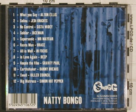 V.A.Natty Bongo: Alton Ellis..Simon Hot Peppe,12Tr., Smugg Rec.(G-GUMScd003), UK, 2000 - CD - 82957 - 5,00 Euro