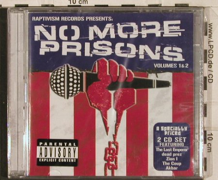 V.A.No More Prisons: Volume 1 & 2, Raptivism/Penalty(), EU, 2004 - 2CD - 82958 - 7,50 Euro