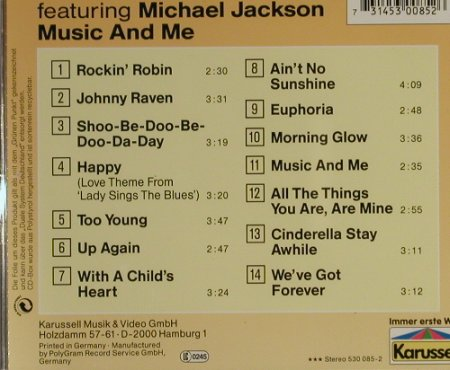 Jackson 5 feat.Michael J.: Music And Me, Karussell(530 085-2), D,  - CD - 93276 - 11,50 Euro