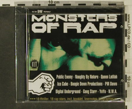V.A.Monsters Of Rap: 18 Tr., FS-New, EW(), D, 1992 - CD - 95274 - 10,00 Euro