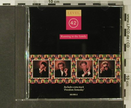Level 42: Running In The Family, Polyd.(831 593-2), D, 1987 - CD - 95603 - 10,00 Euro