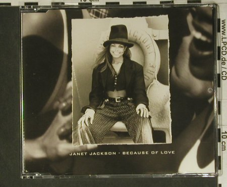 Jackson,Janet: Because Of Love*3, Virgin(8 92297 2), NL, 1994 - CD5inch - 98854 - 3,00 Euro