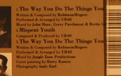 UB 40: The Way You Do The Things...*2+1, Virgin(), UK, 91 - CD5inch - 65354 - 2,50 Euro