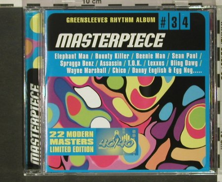 V.A.Greensleeves Rhythm Album: #34, Masterpieces, Greensleeves Rec.(GRELcd734), UK, 2002 - CD - 66062 - 6,00 Euro