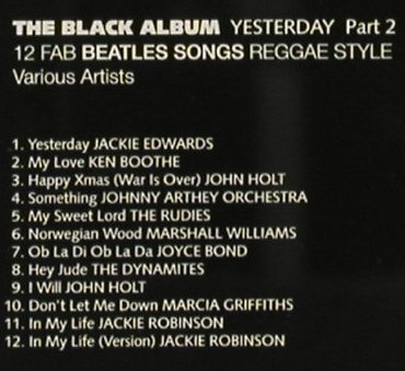 V.A.Yesterday Part 2: 12 Fab Beatles...The Black Album, Trojan(CDTRL 338), UK, 1994 - CD - 91613 - 10,00 Euro