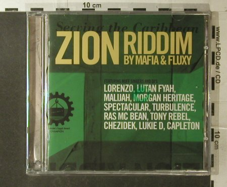V.A.Zion Riddim by Mafia & Fluxy: 12 Tr., FS-New, Heartbeat(HBECD 20651), NL, 2005 - CD - 96200 - 10,00 Euro