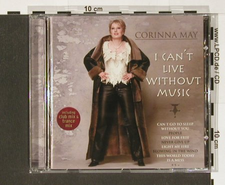 May,Corinna: I Can't Live Without Music, Jupiter(), EU, 02 - CD - 60549 - 7,50 Euro