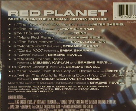 Red Planet: Music From, WB(), EU, 00 - CD - 50507 - 5,00 Euro