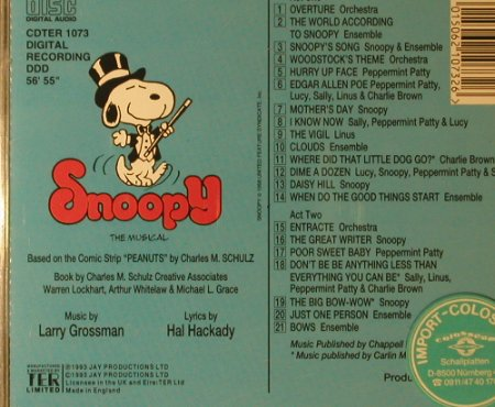 Snoopy-The Musical: Original London Cast, Jay Productions(CDTER 1073), UK, 1993 - CD - 51591 - 7,50 Euro