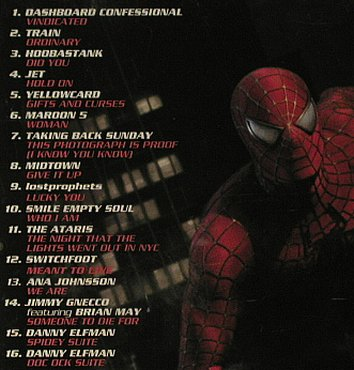 Spiderman 2: Music from Inspired by , 16Tr. V.A., Sony(517367 2), , 2004 - CD - 53554 - 7,50 Euro