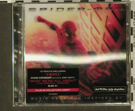 Spiderman: Music from Inspired by , 19Tr. V.A., Sony(), , 02 - CD - 64968 - 5,00 Euro