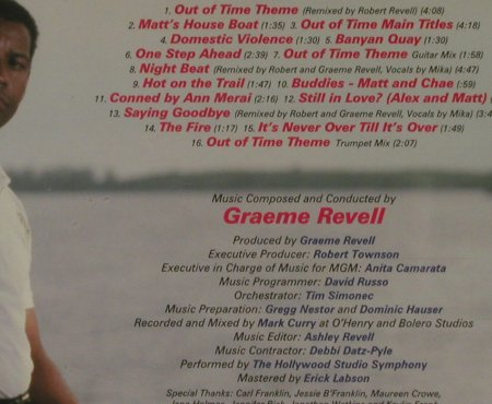 Out of Time: 16 Tr. By Graeme Revell, Varese(VSD-6514), D, 2003 - CD - 95507 - 10,00 Euro