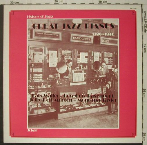 V.A.Great Jazz Pianos 1926-1940: Fats Waller...Mooch Pidle,14 Tr., Joker(SM 3121), I, 1971 - LP - C7181 - 6,00 Euro