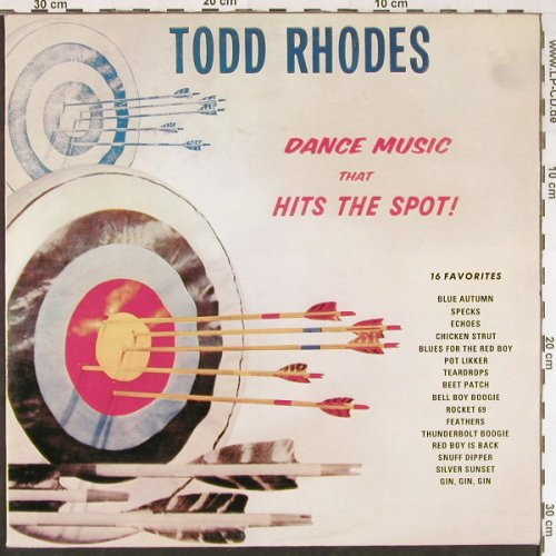 Rhodes,Todd: Dance Music That Hits The Spot!, Contact(ST 1020), I, Ri,  - LP - E1855 - 5,00 Euro