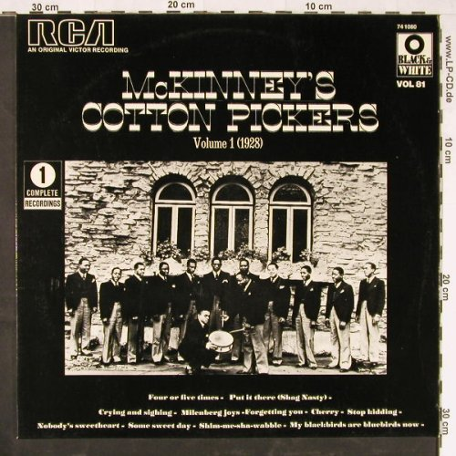 Mc Kinney's Cotton Pickers: Vol.1 (1928), RCA(741 080), F,  - LP - E2166 - 5,00 Euro