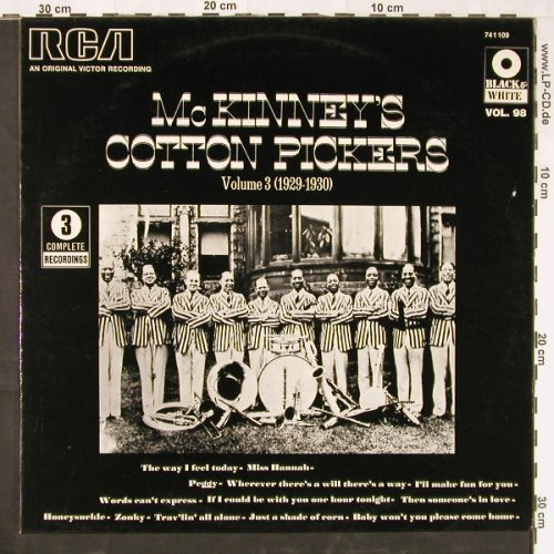 Mc Kinney's Cotton Pickers: Vol.3 (1929-1930), RCA(741 109), F,  - LP - E2167 - 5,00 Euro