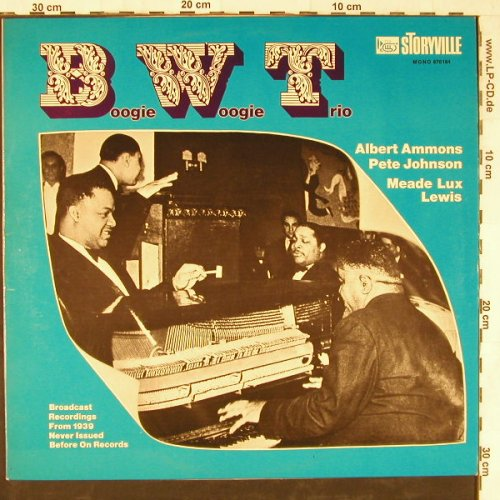 Johnson,Pete/Ammons/M.L.Lewis: Boogie Woogie Trio(39),WhMuster,vg+, Storyville(670 184), D, Mono,  - LP - E3567 - 7,50 Euro