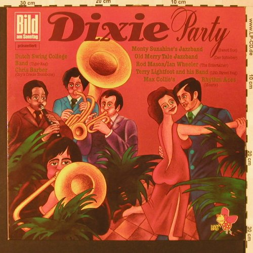 V.A.Dixie Party: Dutch Swing College...Chris Barber, Happy Bird(5028), D,  - LP - E7337 - 4,00 Euro