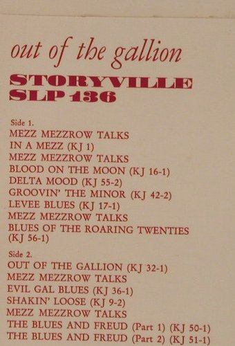 Mezzrow Bechet Quintet & Septet: Out Of The Gallion-KingJazzVol.1, Storyville(SLP 136), DK,  - LP - F3145 - 7,50 Euro