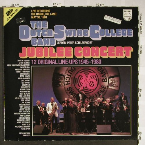 Dutch Swing College Band: Jubilee Concert, Foc - Live, Philips(6601 016), D, 1980 - 2LP - H2010 - 7,50 Euro