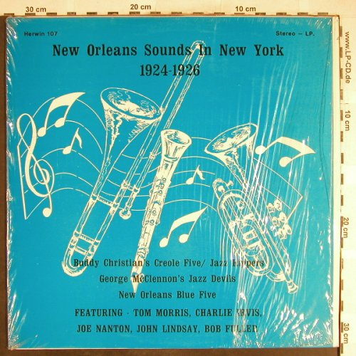 V.A.New Orleans Sound i.N.Y.1924-26: Buddy Christian's Creo..McClennons, Herwin(107), US,  - LP - H6580 - 6,50 Euro