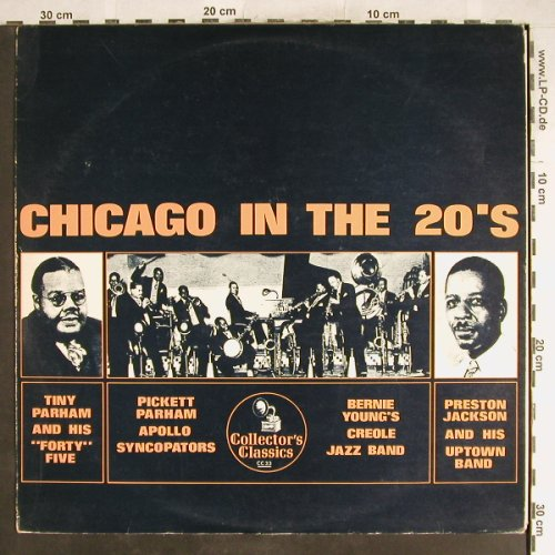 V.A.Chicago in the 20's: Bernie Young'sCreole...Tiny Parham, Collector's Classics(CC 33), m-/vg+,  - LP - H6583 - 3,00 Euro