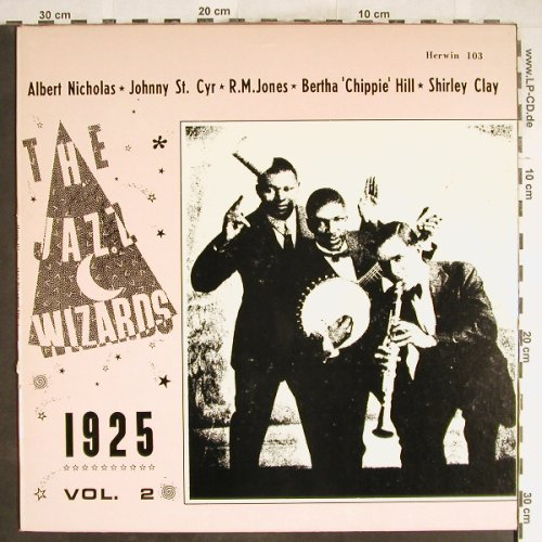 V.A.The Jazz Wizards 1925 Vol.2: Richard M.Jones, Starks Hot Five..., Herwin(H-103), US,vg+/vg,  - LP - H6590 - 4,00 Euro