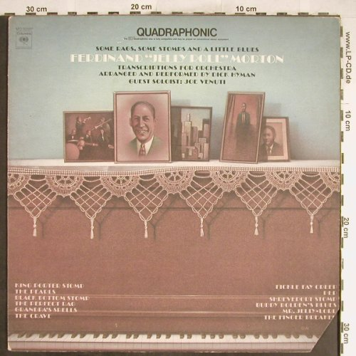 Morton,Jelly Roll by Dick Hyman: Transcribtions For Orchestra, Columbia, PromoStoc(MQ 32587), US, CO, 1974 - LPQ. - H6622 - 6,00 Euro