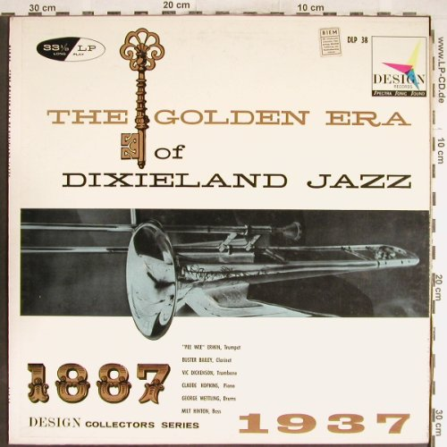 V.A.Golden Era Of Dixieland Jazz: Pee Wee Erwin,Buster Bailey..., Design Rec.(DLP 38), US, 1961 - LP - H6644 - 6,00 Euro
