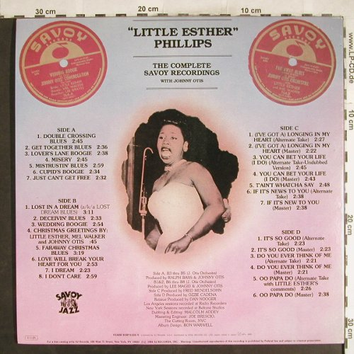 Phillips,Little Esther: Confessin' The Blues, Foc, Savoy(K18P 6325/6), J, 1985 - 2LP - H7430 - 14,00 Euro