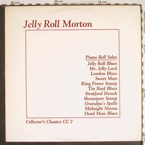Morton,Jelly Roll: Piano Roll Solos, m-/vg+, Collector's Classics(CC 7), UK,  - LP - H7451 - 5,50 Euro