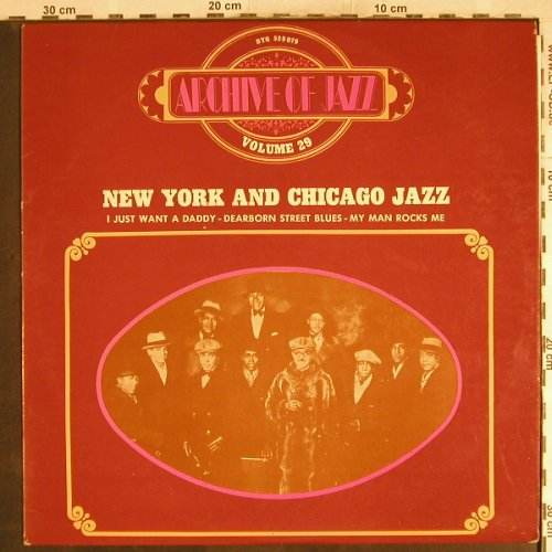 V.A.New York and Chicago Jazz: Matson' Creole Serenaders..u.a., BYG, Vol.29(529.079), F,  - LP - H7743 - 5,50 Euro