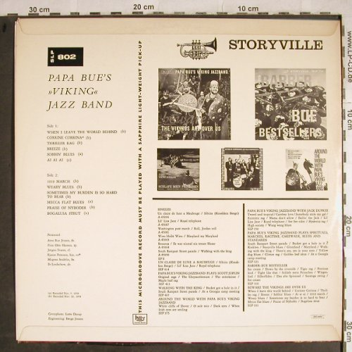 Papa Bue's Viking Jazzband: Beware ! The Vikings are over us, Storyville(SLP 802), DK,  - LP - H8554 - 7,50 Euro