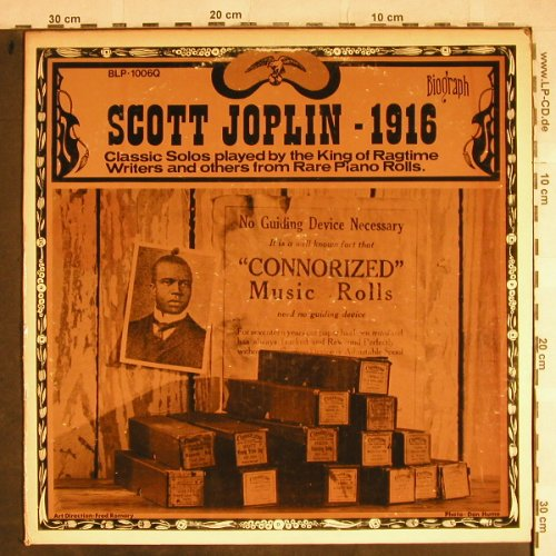 Joplin,Scott: 1916-Classic Solos..and others from, Biograph(BLP-1006Q), US, 1974 - LP - H8569 - 5,50 Euro