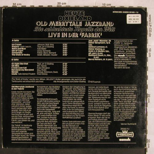 Old Merry Tale Jazzband: Live in der Fabrik,Foc, Intercord/aamok(28 560-1U), D, 1973 - LP - H9799 - 5,50 Euro