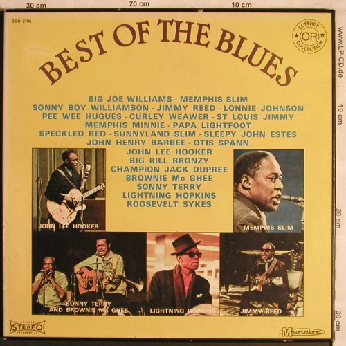 V.A.Best Of The Blues: Jimmy Reed...Otis Span, 35 Tr.,Box, Musidisc/Storyville(CCO 2705), F,  - 3LP - X4430 - 9,00 Euro