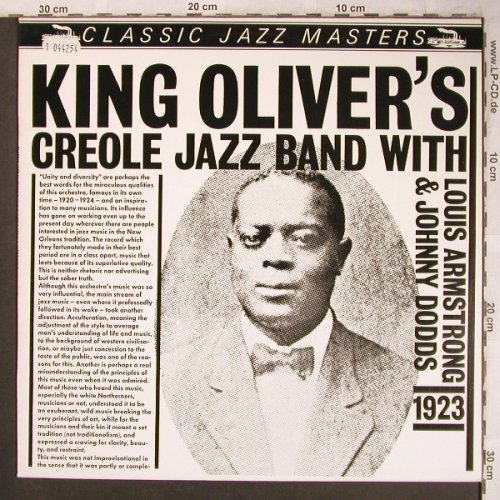 King Oliver's Creole Jazz Band: with Armstrong&Dodds, 1923, Classic Jazz Masters(22023), NL,  - LP - X4613 - 5,50 Euro